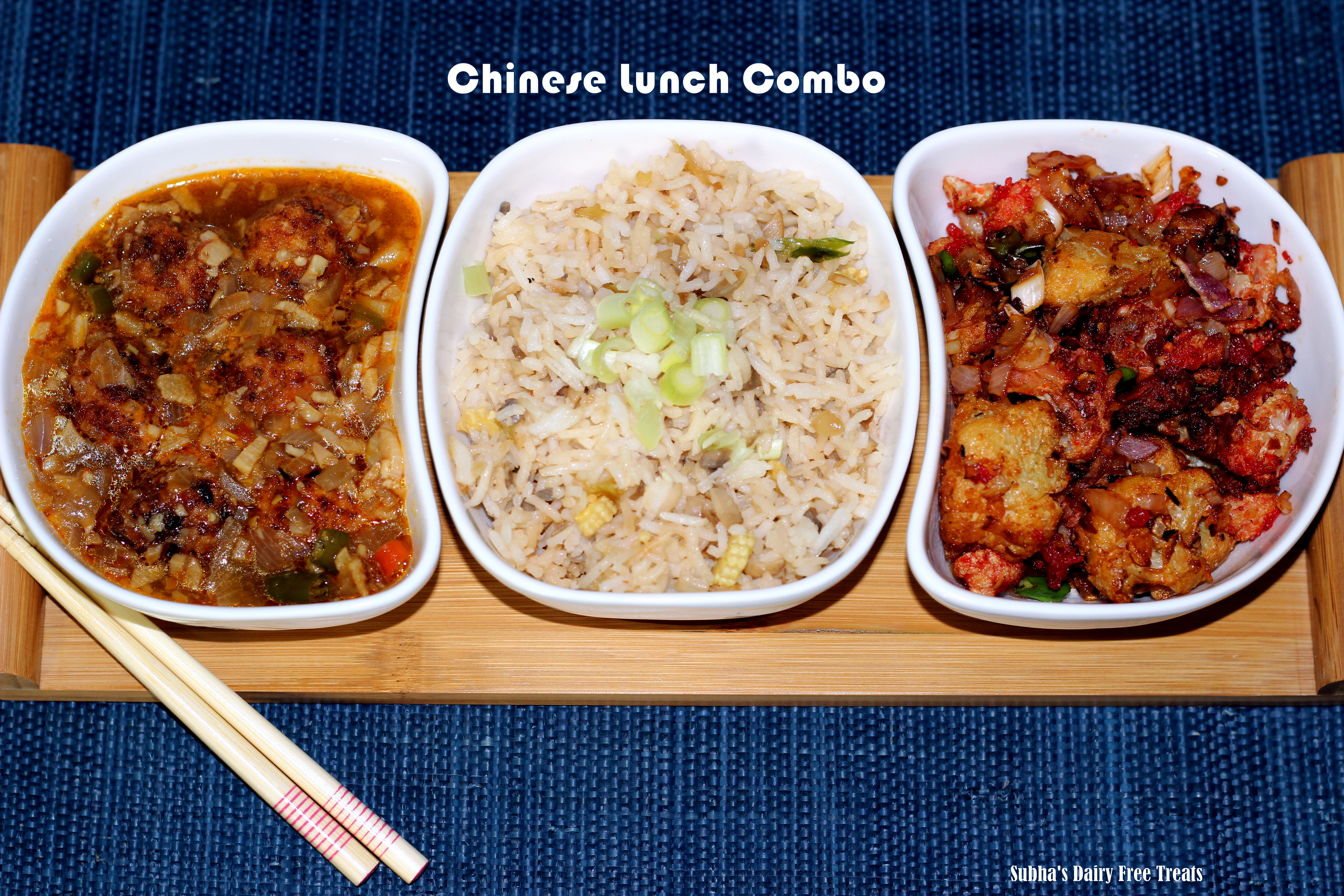 Chinese lunch combo subhas dairy free treats forumfinder Images