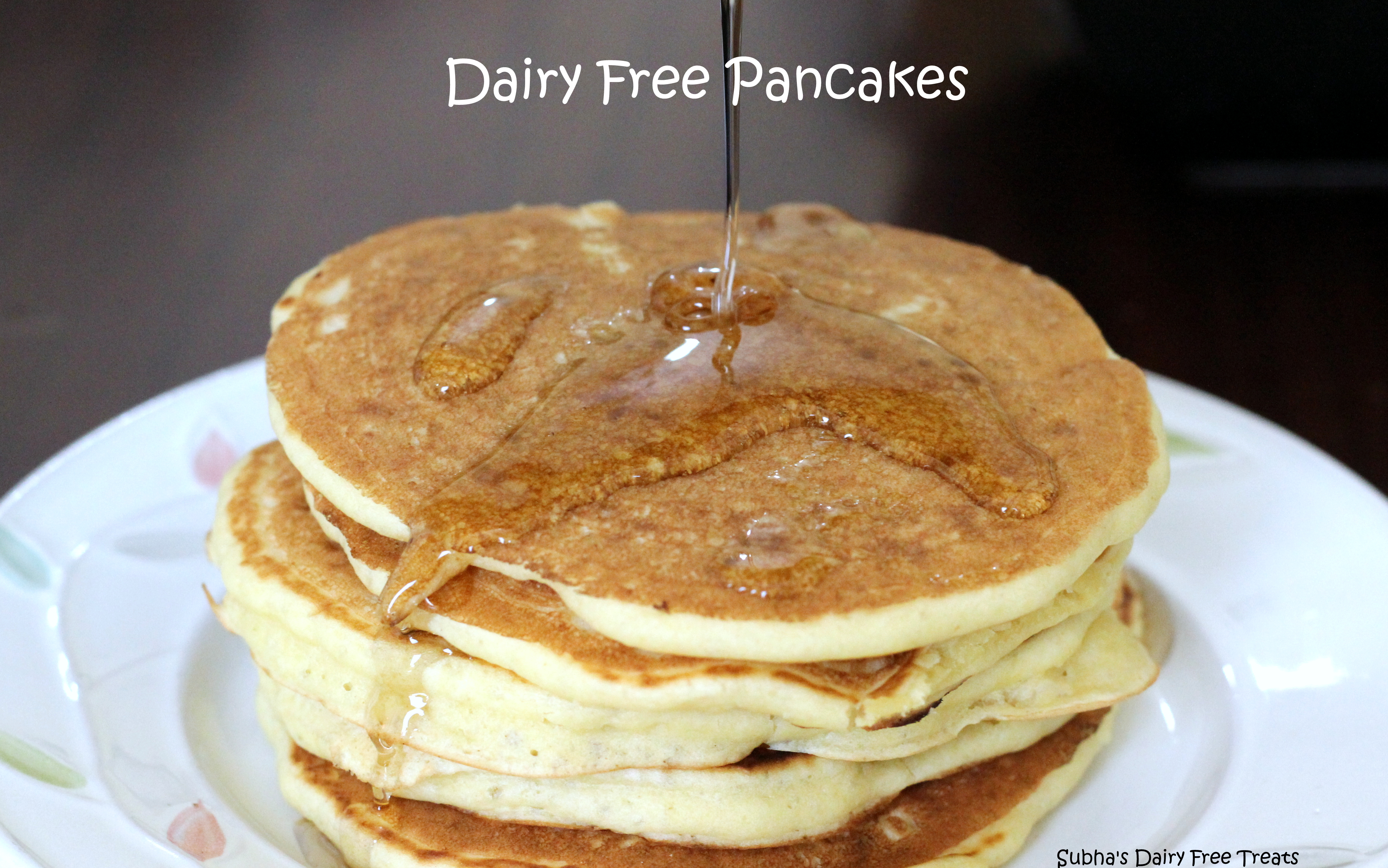 Dairy free english style coconut milk pancake recipe subhas dairy dairy free pancakes 1 ccuart Gallery