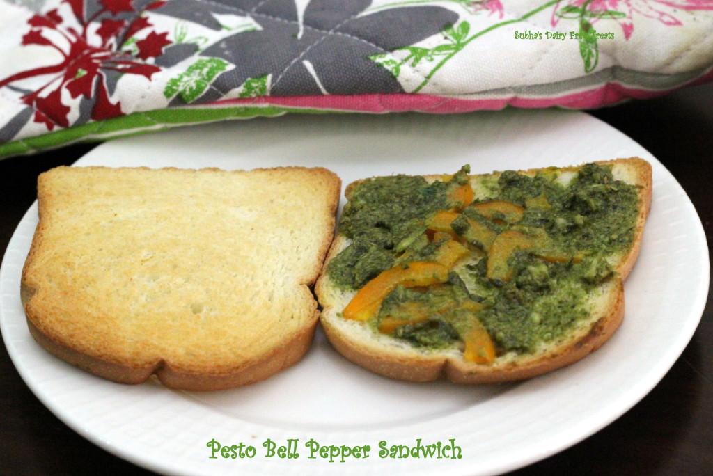 Pesto Bell Pepper Sandwich 1